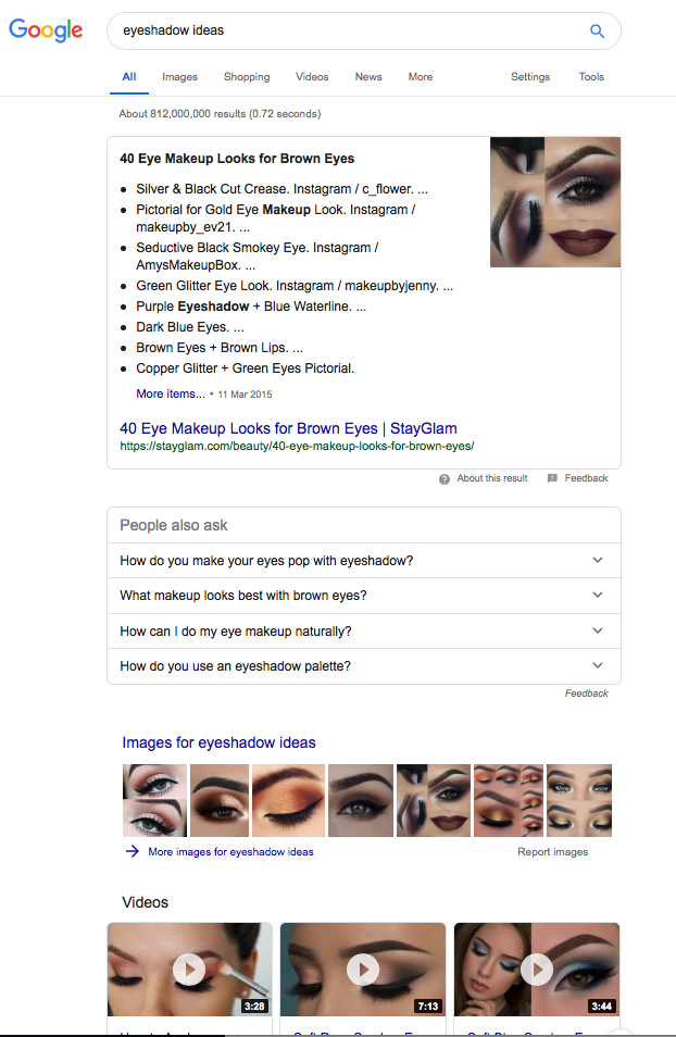 List Post Example - Eye Shadow