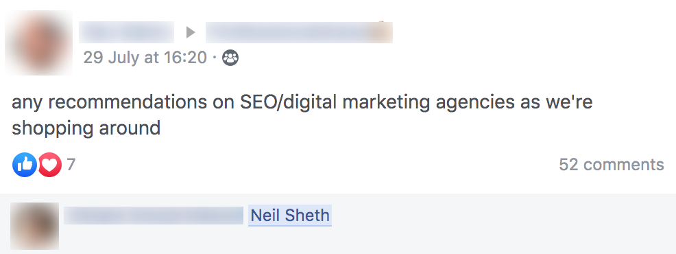 Facebook Strategy Example 2